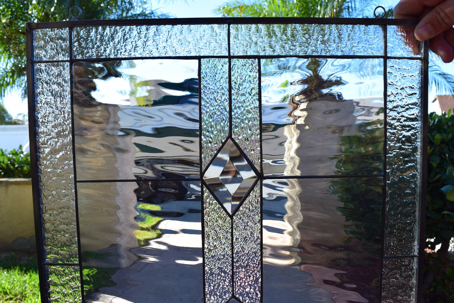 The Quot San Marcos Quot Clear Beveled Leaded Stained Window