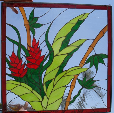 Hawaiian Ginger Leaded Stained