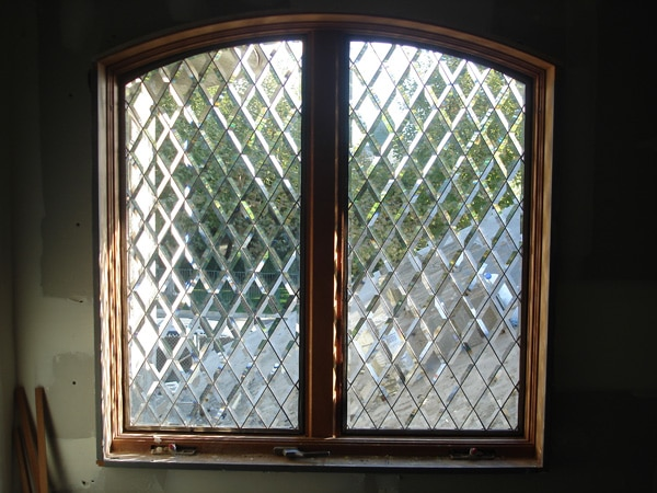 Classic All Clear Beveled Diamond Windows