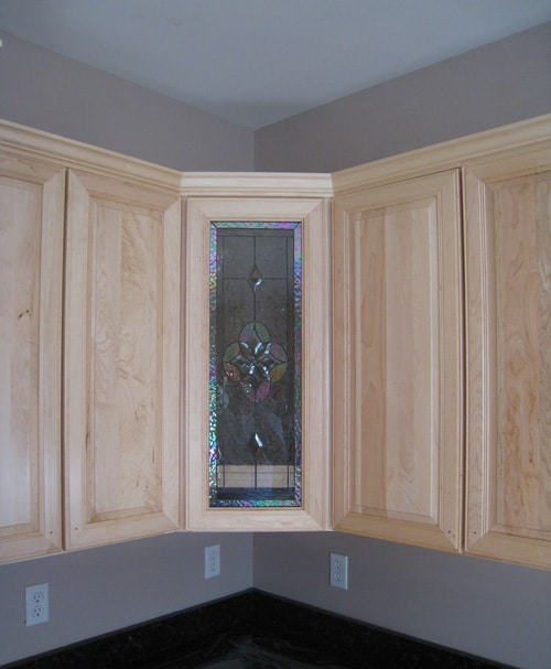 Stained Glass For Kitchen Cabinets: All Clear Beveled Kitchen Cabinet Insert