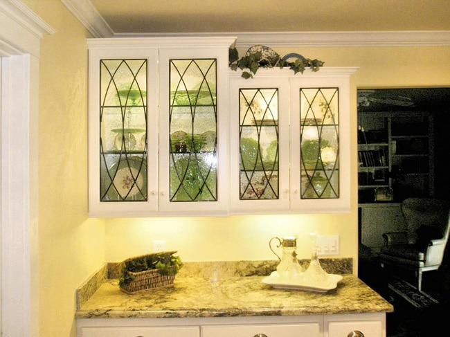 All clear kitchen cabinet inserts for All glass kitchen cabinets