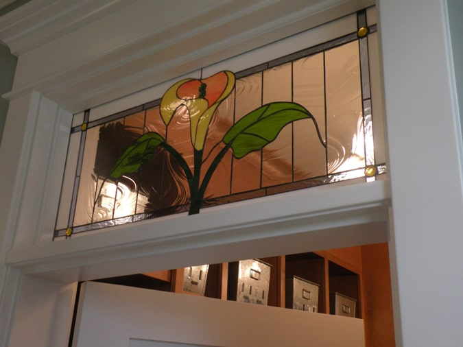 lovely calla lily interior transom window
