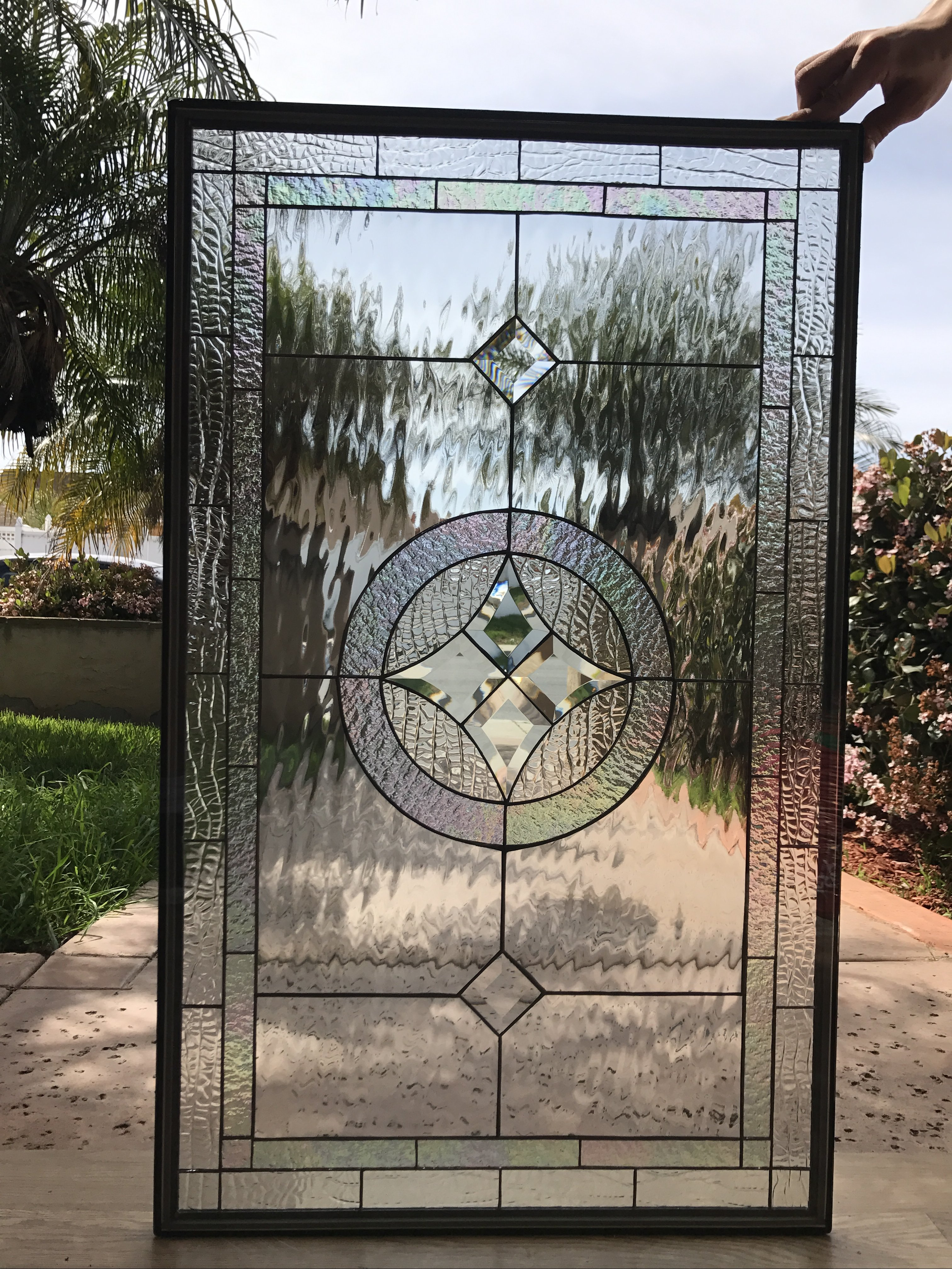 The Quot La Habra Quot Clear Crystal Beveled Leaded Stained Glass
