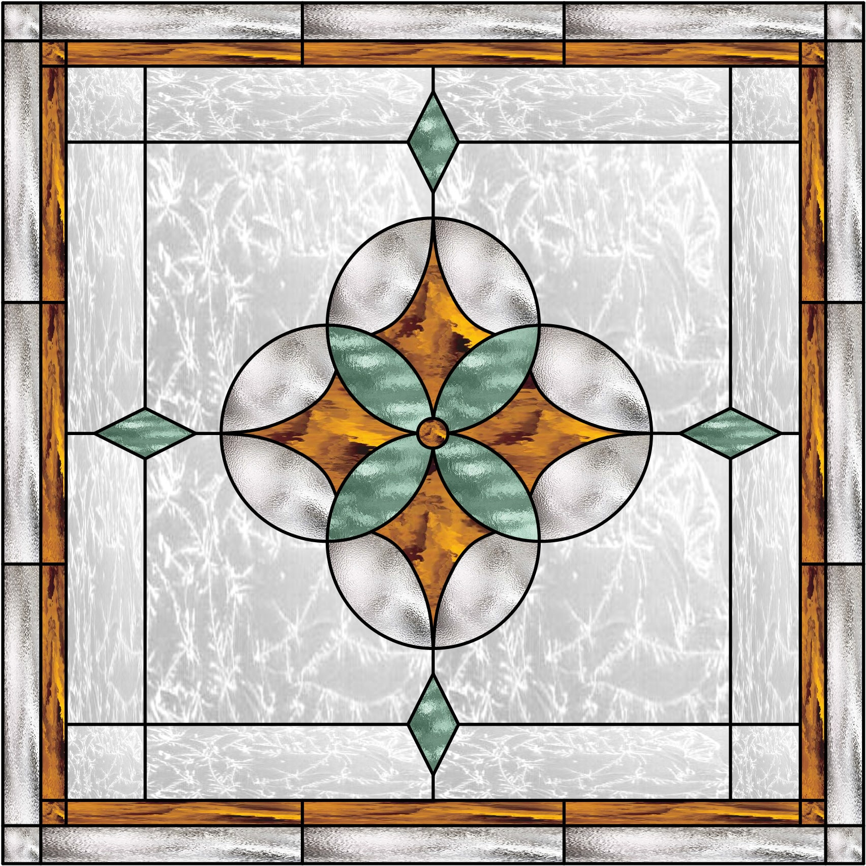Geometric Star Stained Glass Window (Also available ...