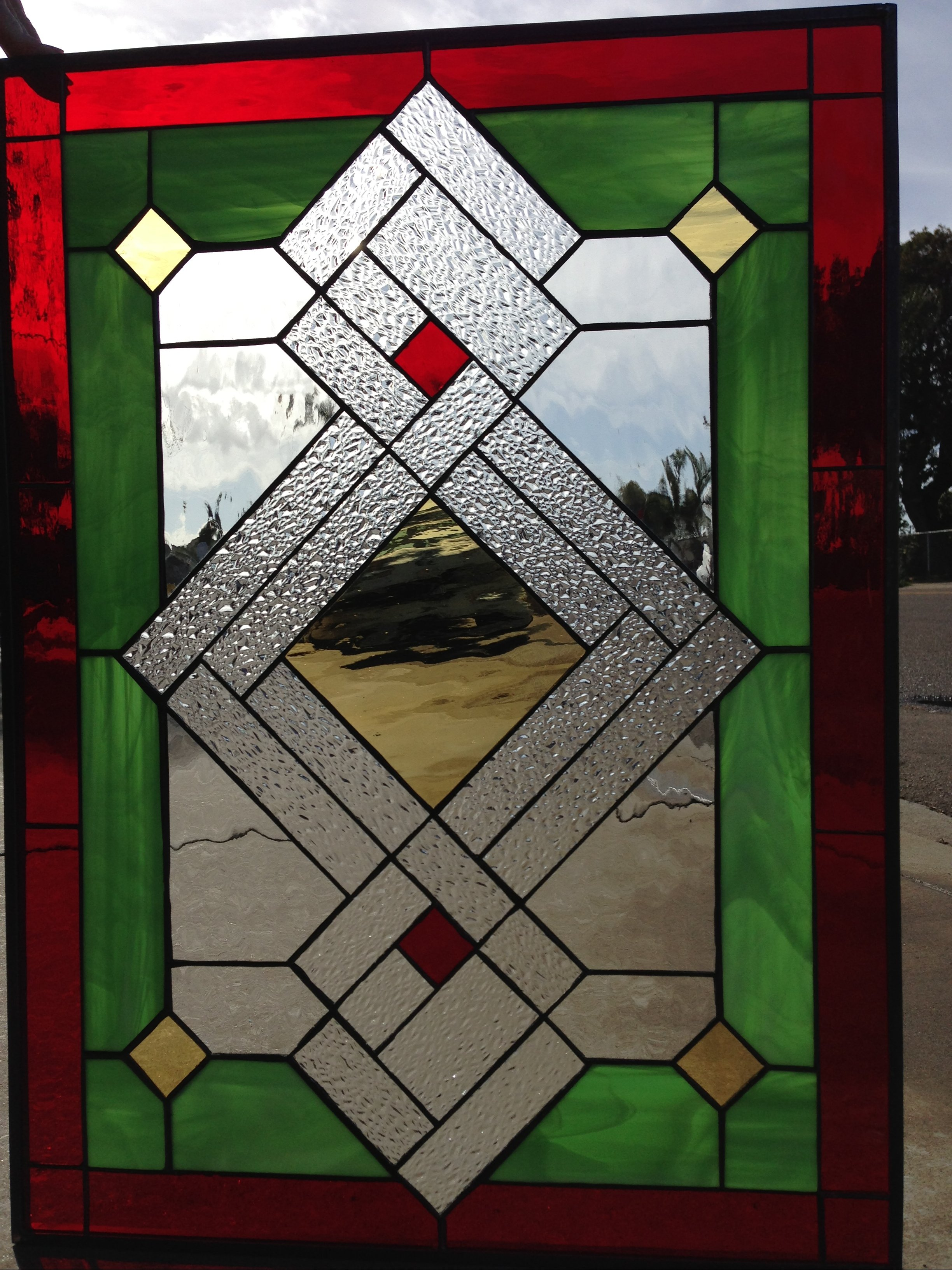 Geometric Knot Stained Glass Window Panel (Also available ...