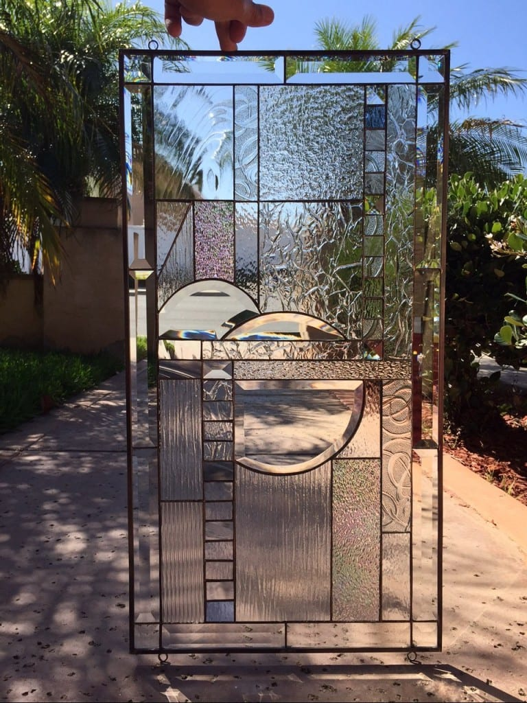 Clear Leaded Glass : Geometric clear beveled glass product categories