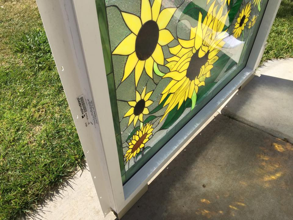 Huge Sunflower Amp Butterfly Stained Glass Window Pre