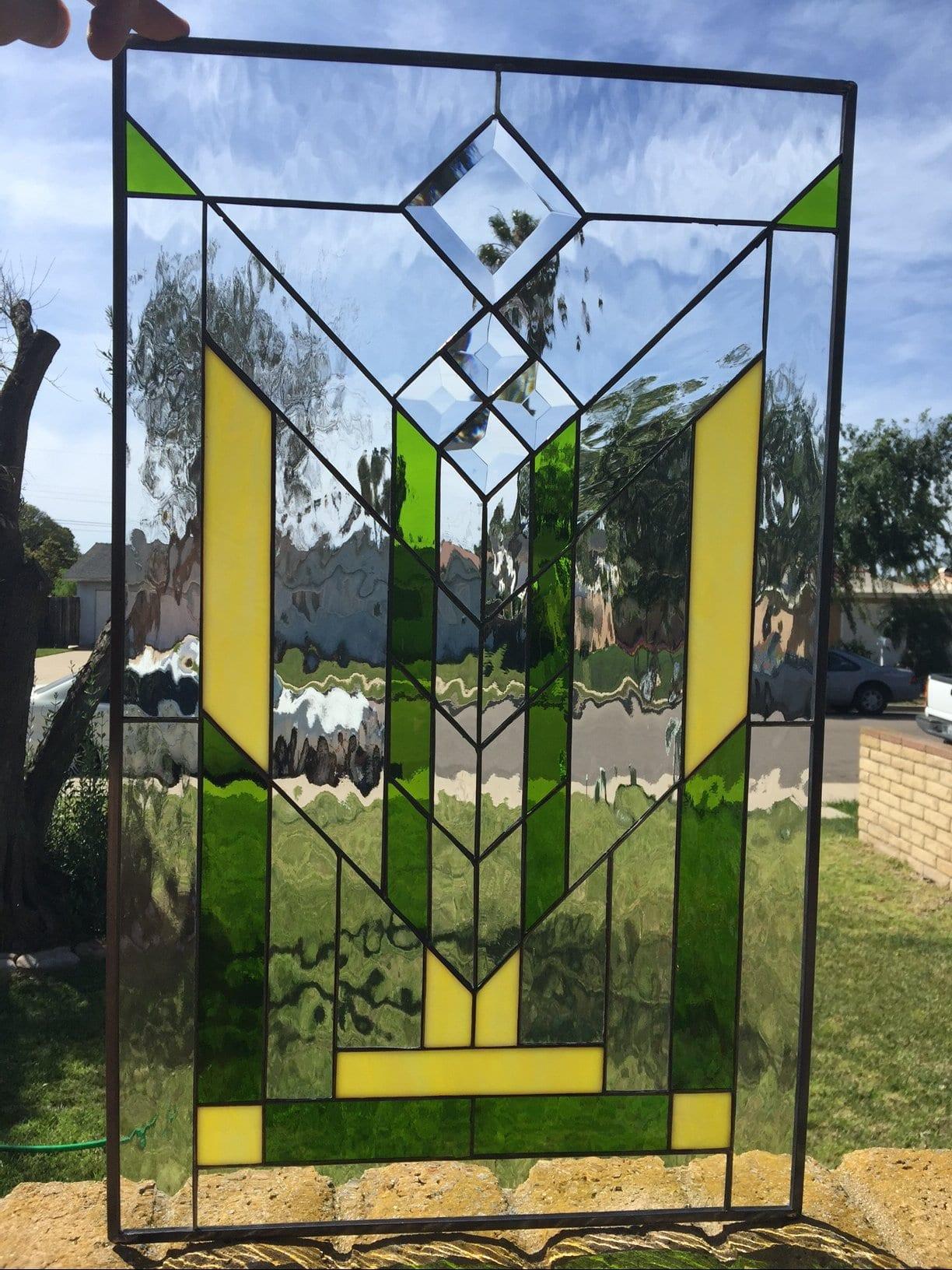 Beautiful Quot Calabasas Quot Geometric Prairie Style Leaded