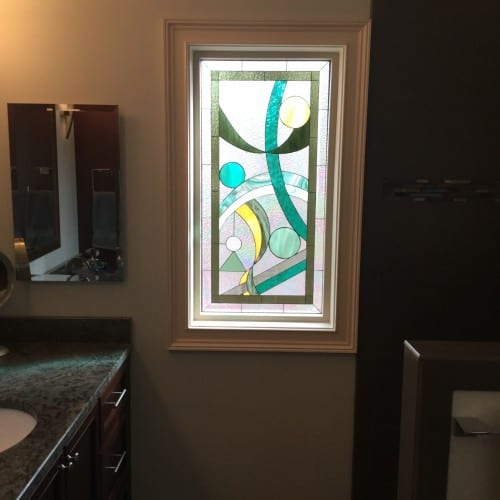 Stained glass for kitchen windows and cabinets for Stained glass kitchen windows
