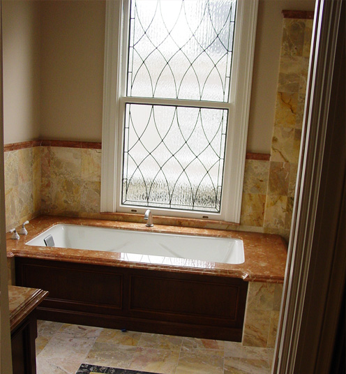 Clear Stained Gl For Bathroom