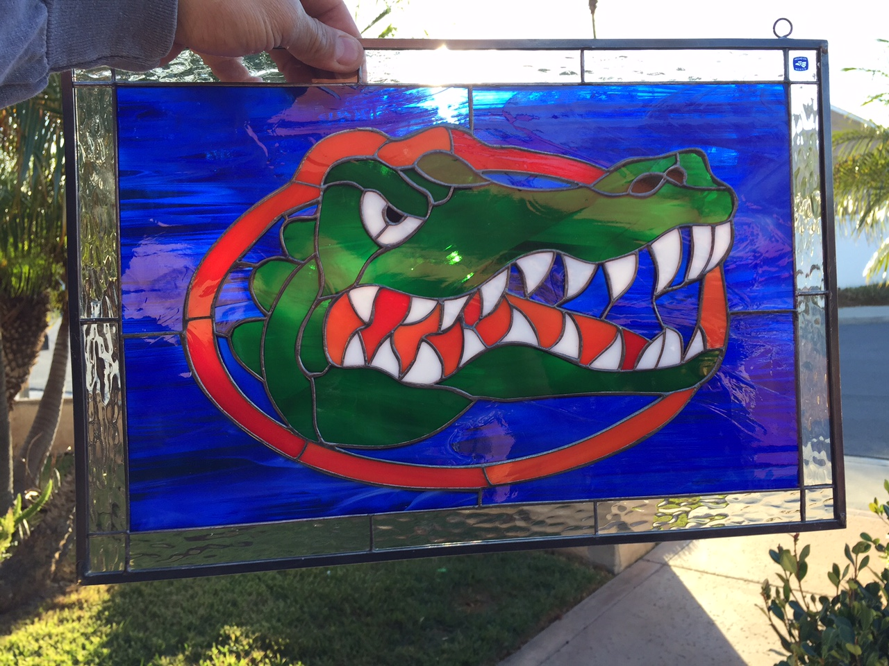 Go Florida Gators Authentic Handmade Stained Leaded