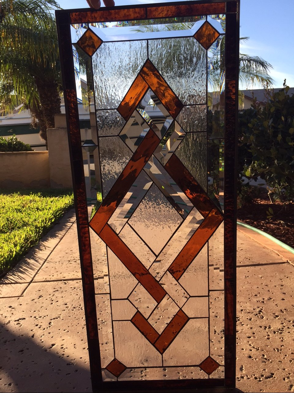 The Lovely Quot San Ramon Quot Leaded Stained Glass Window Panel