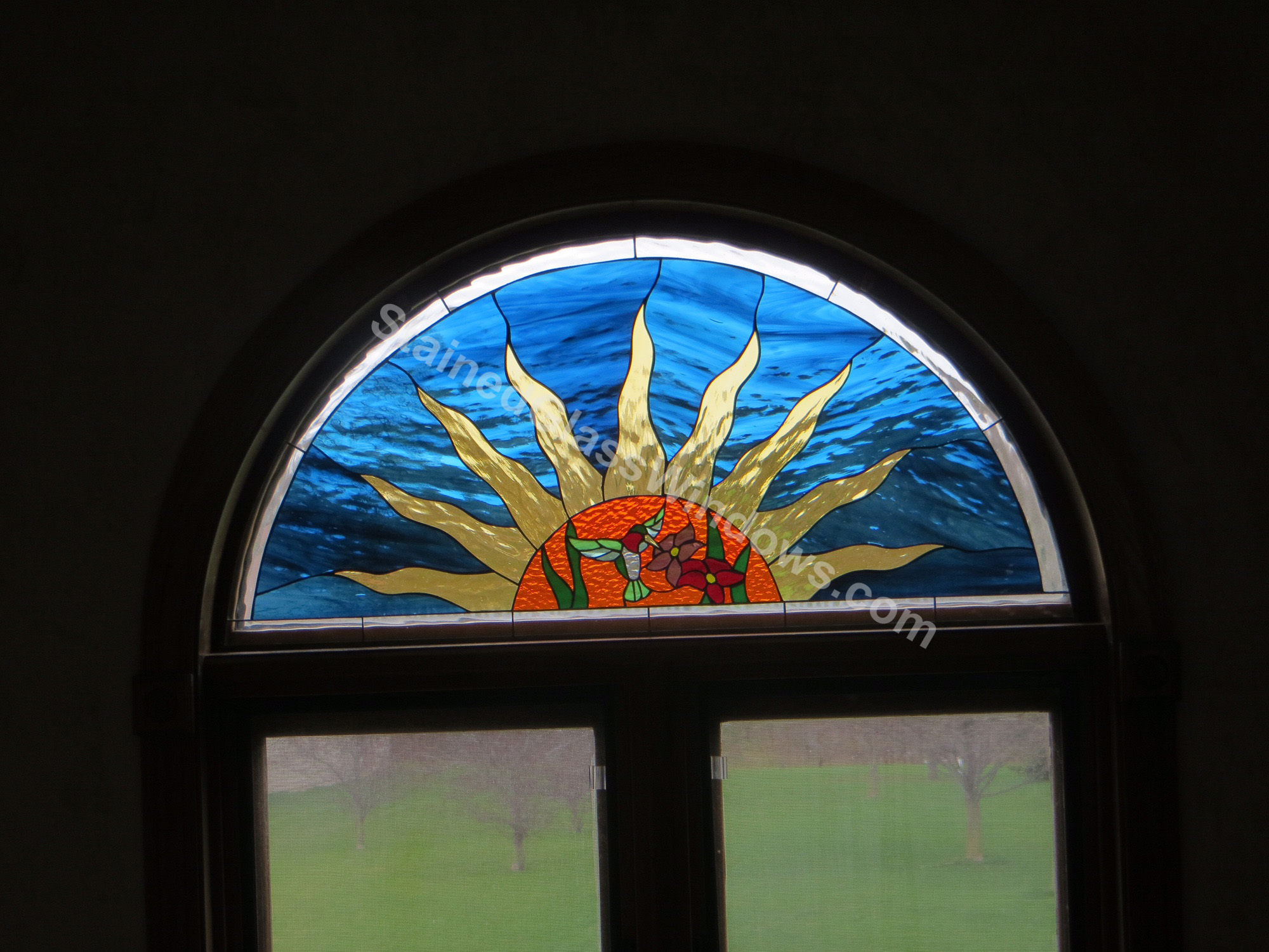 decorative glass window inserts. Custom Made Arched Stained Glass Window Insert Held In With Mirror Inserts  Designs