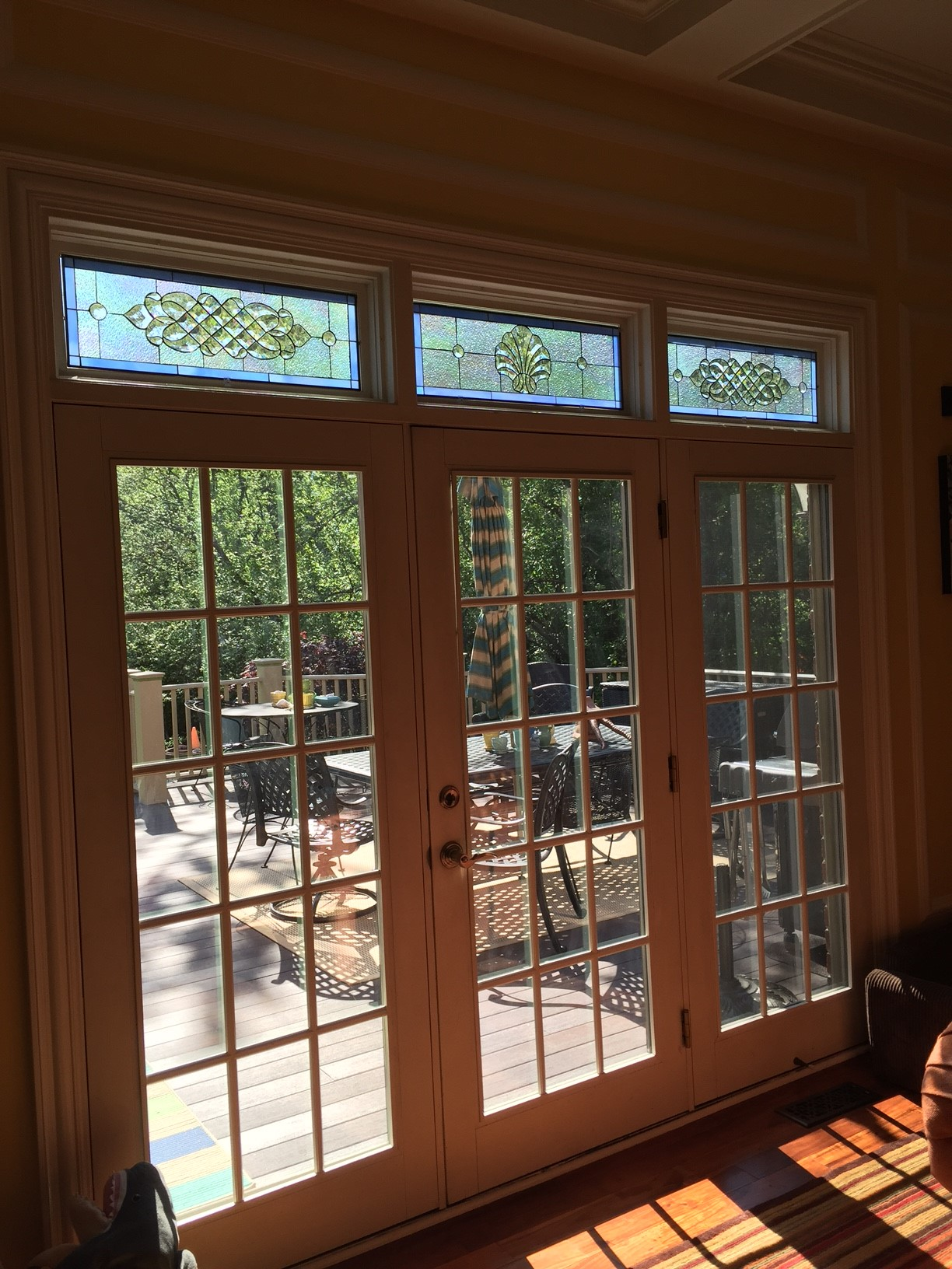 before  u0026 after  3 transom windows accented with all clear