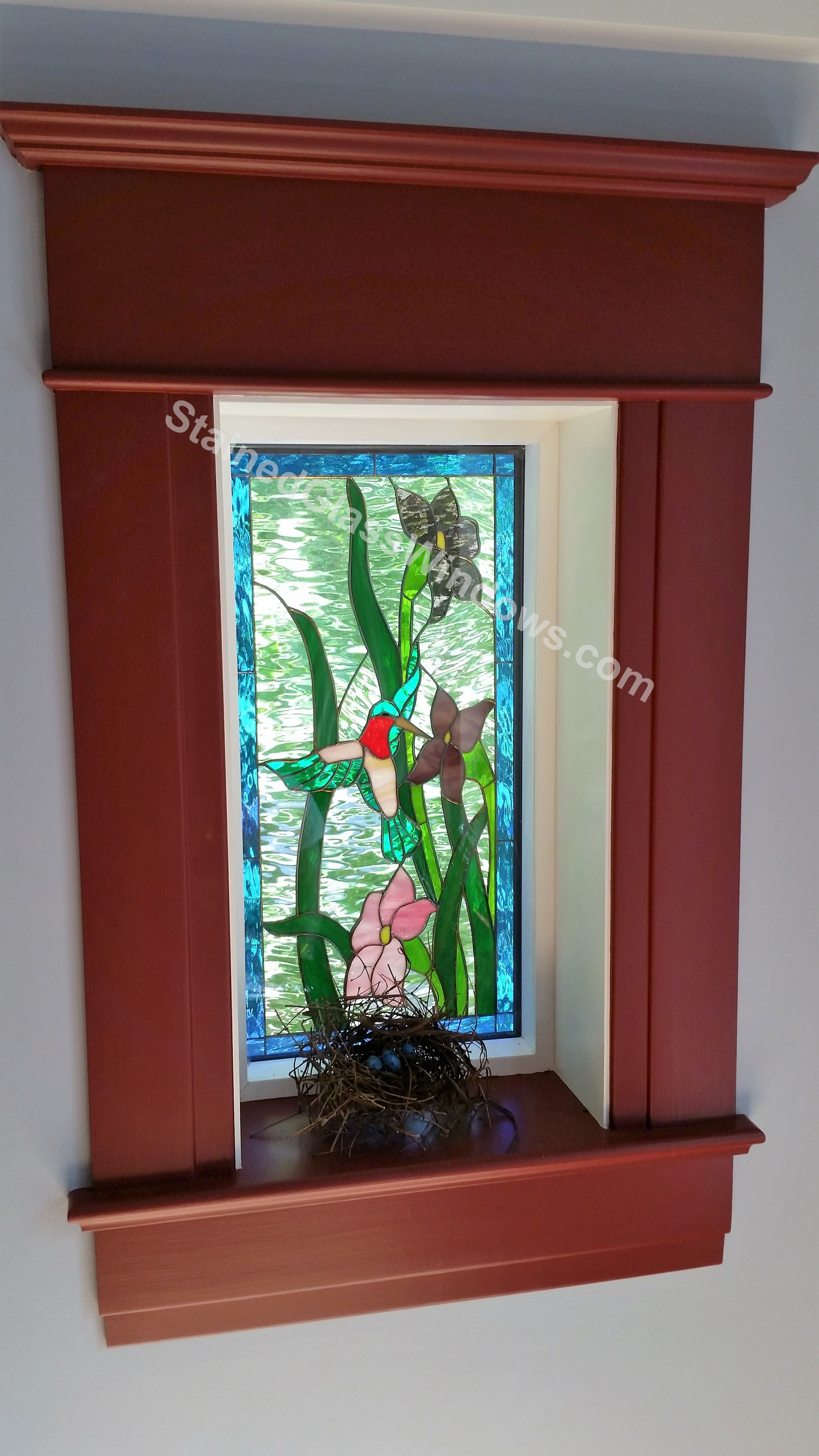 Wow!!! Stained glass window installed insulated and installed into ...