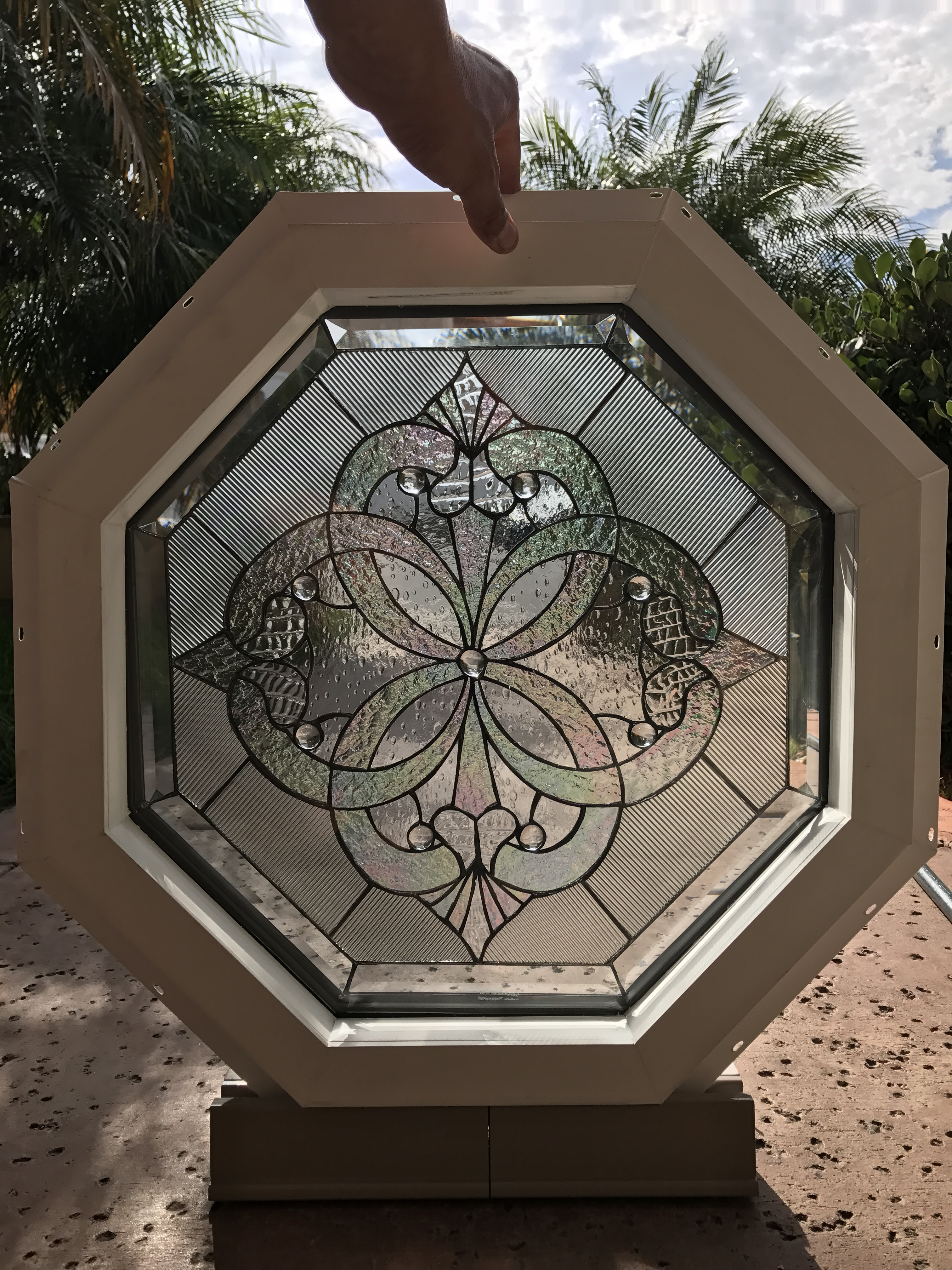 Complete Unit Quot Octagonal Windsor Quot Stained Leaded Glass