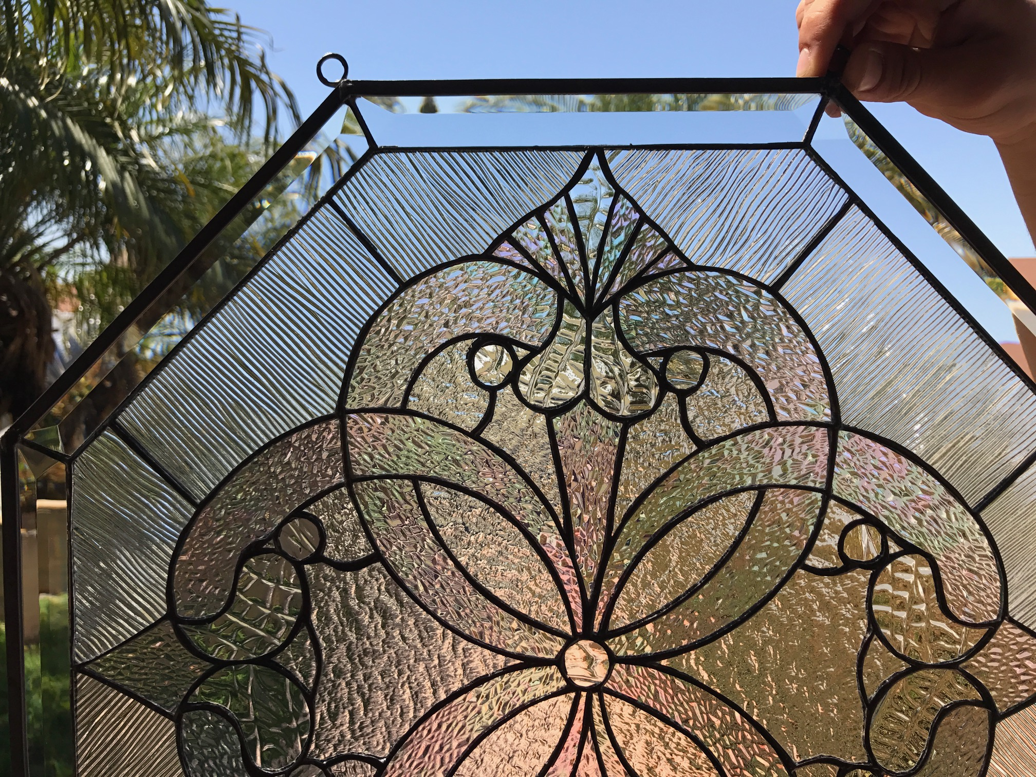 Octagon Quot Windsor Quot Beautiful Clear Textured Leaded Stained