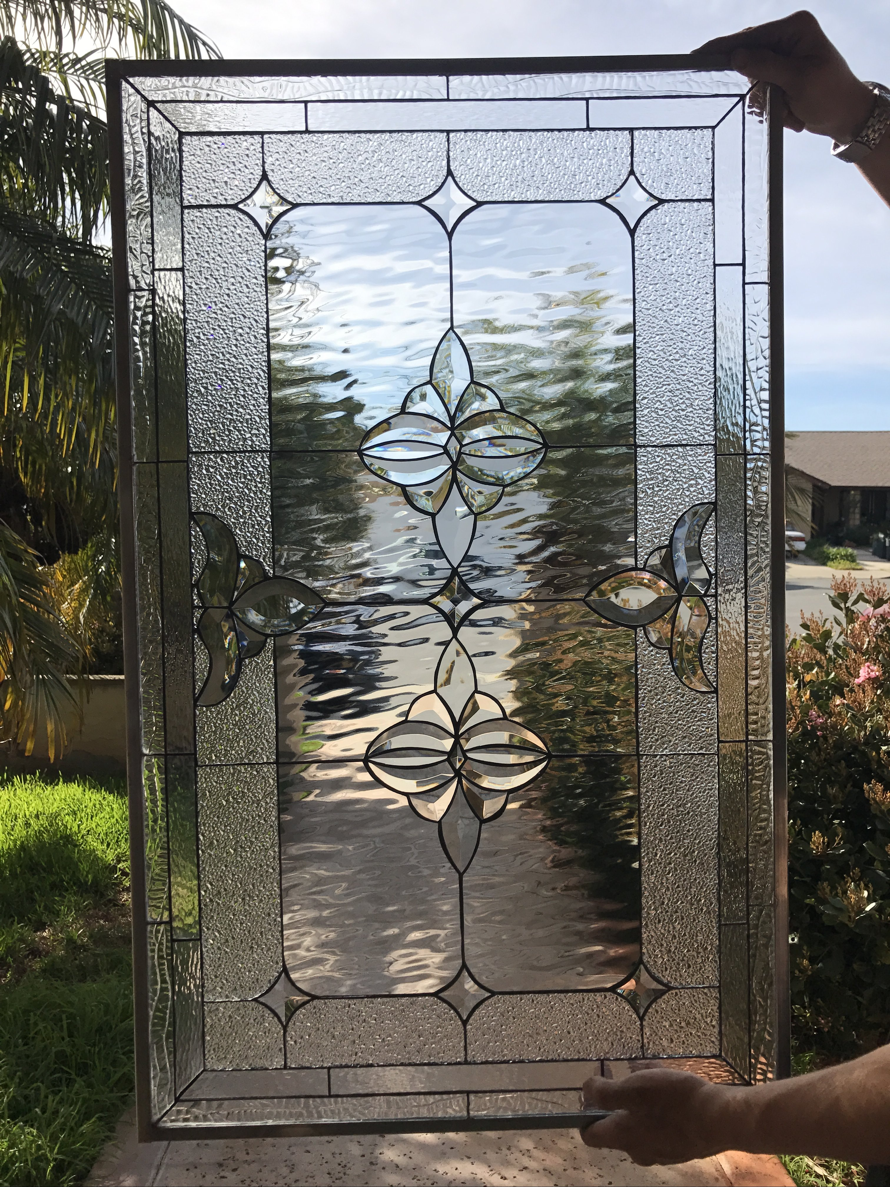 The Riverside Classic Beveled Stained Glass Window