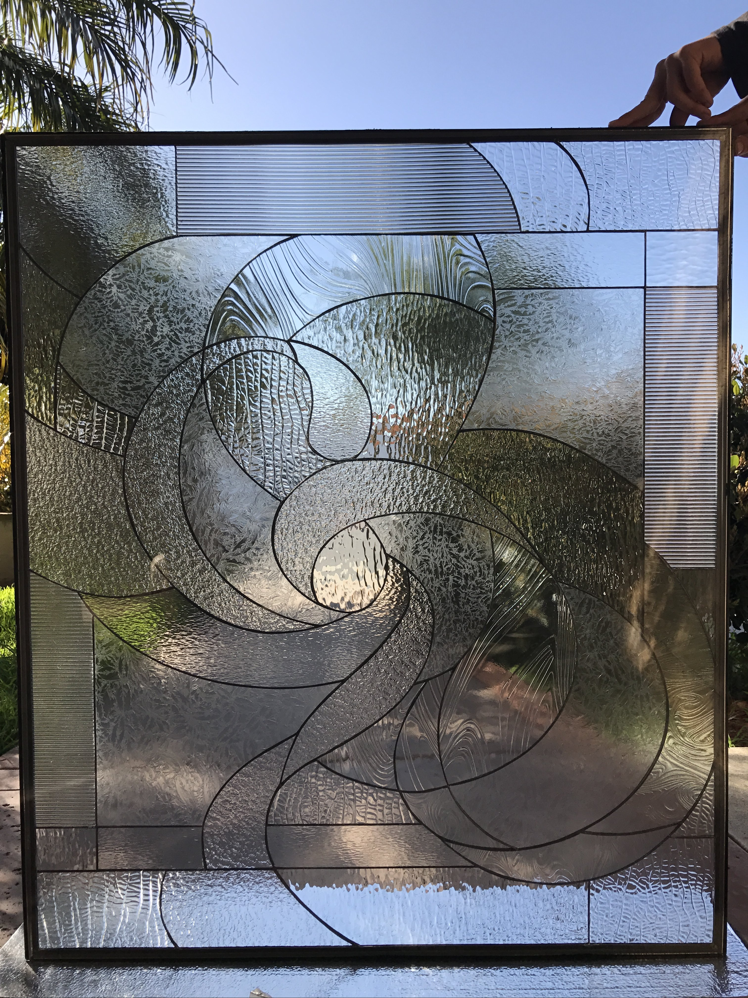 The Quot Cirrus Quot Abstract Swirl Leaded Stained Glass Window