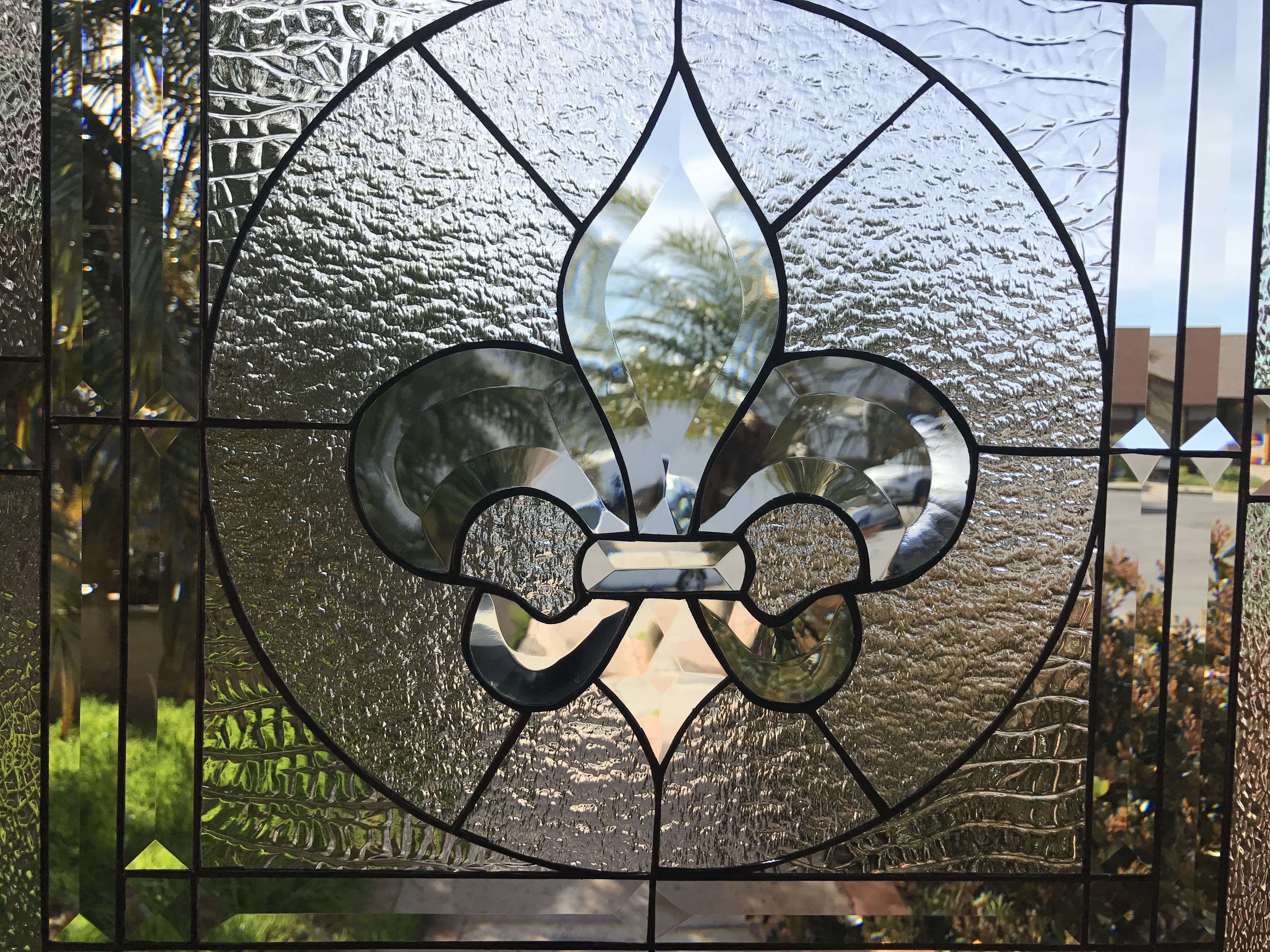 The Galway Classic Fleur De Lis Stained Glass Window