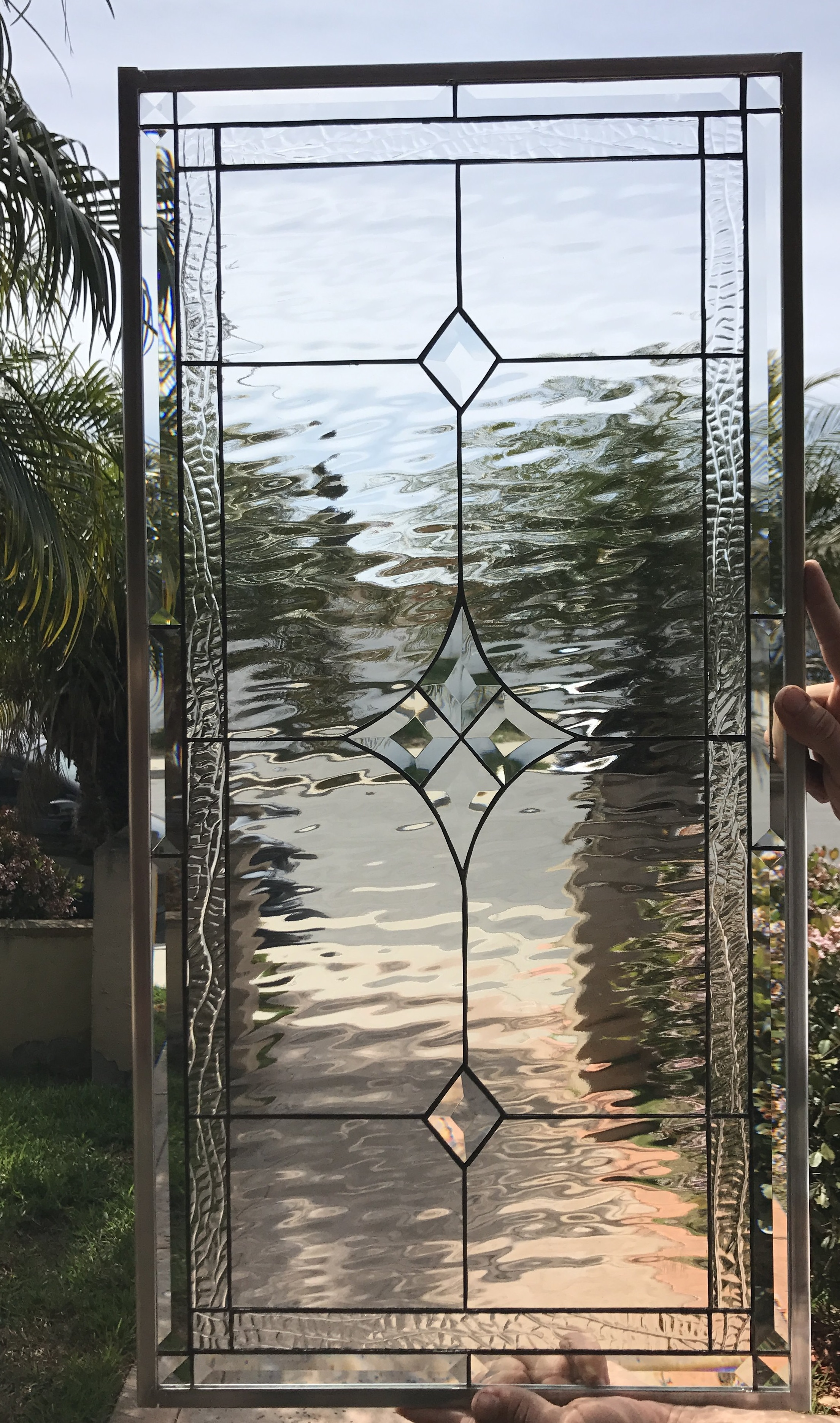 simple amp elegant the quotpalm springsquot stained glass window