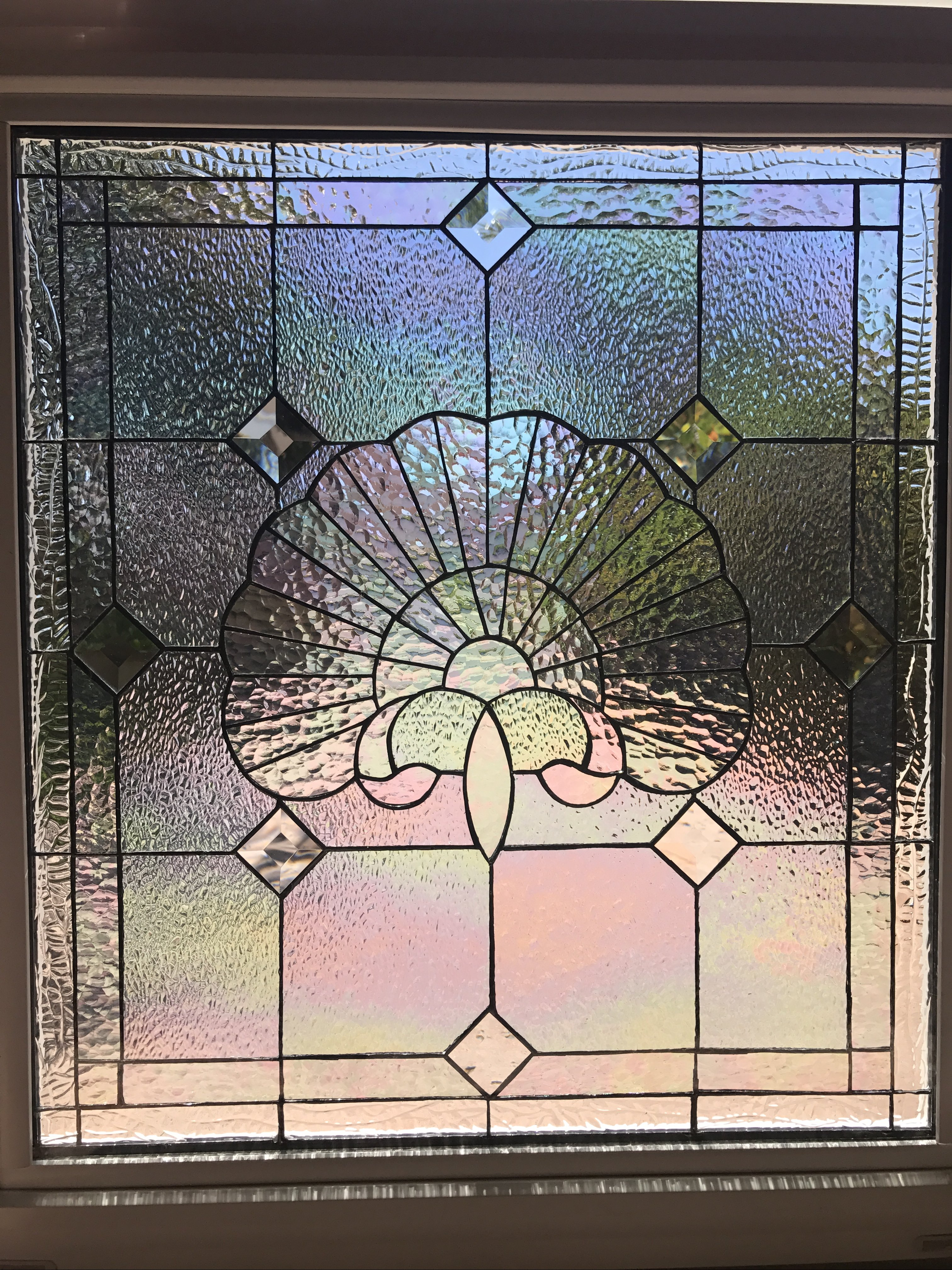 Vinyl Framed And Tempered Glass Insulated Iridescent