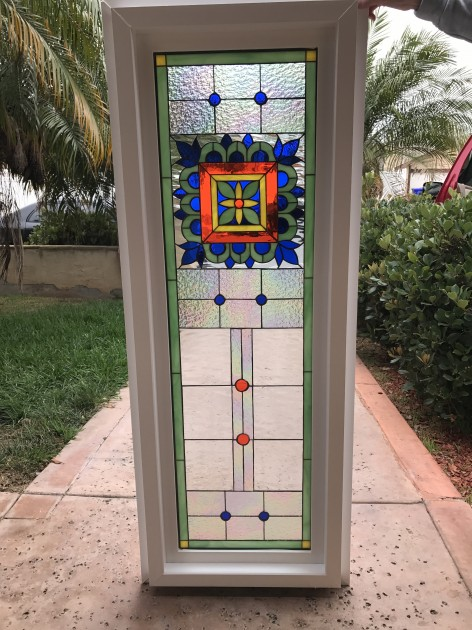 Vinyl framed and insulated the talavera stained glass for Vinyl insulated windows