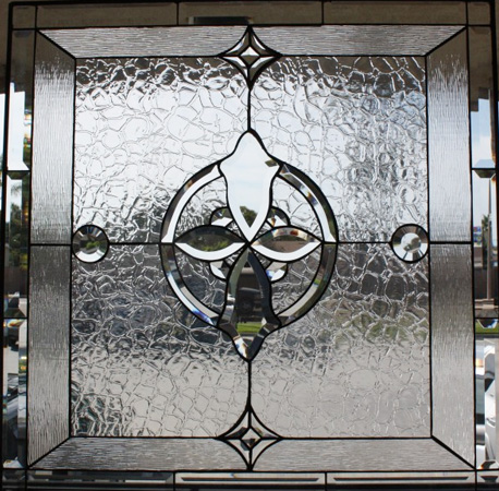 Geometric and Clear Beveled Glass