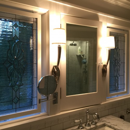 Translucent Bathroom Windows: Bathroom Stained Glass Windows, Hangings & Panels