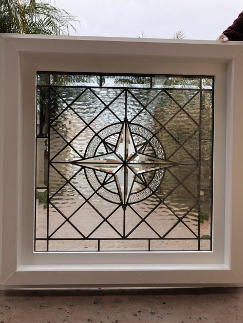 The Elegant Maywood Quot Beveled Leaded Stained Glass Window