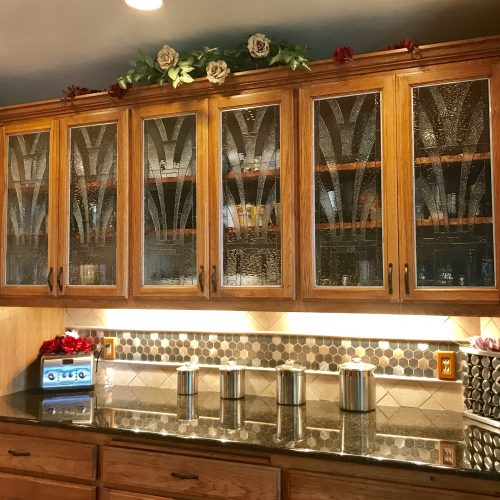 Stained Glass Cabinet Inserts And Kitchen Windows