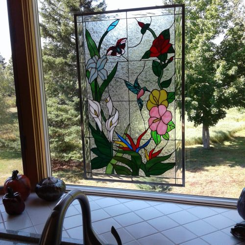 Kitchen Cabinets With Stained Glass: Stained Glass Cabinet Inserts And Kitchen Windows