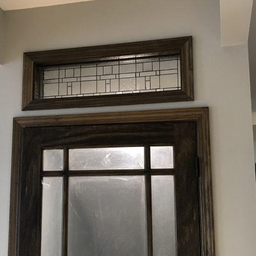 Simple U0026 Traditioanl Interior Transom Leaded Glass Window