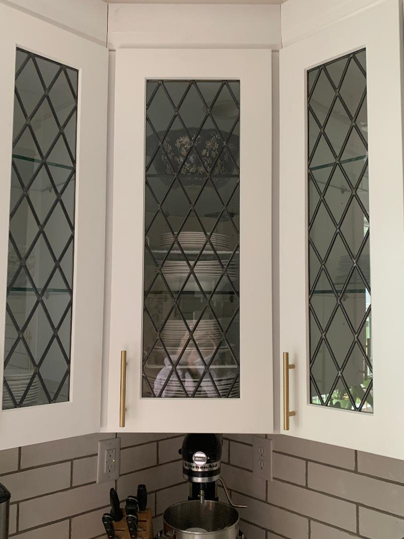 982edf8cdf42 Beautiful Beveled Stained Glass Window Used As An Insert For A Bathroom. 0.  View Larger More Details