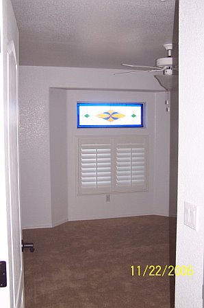 Classic Interior transom stained glass window