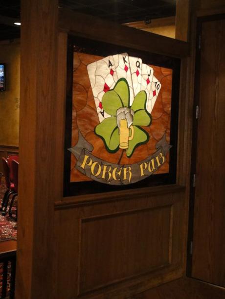 Poker Window Installed In A Pony Wall In A Casino