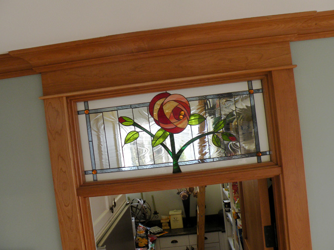Transom Classic Floral Window