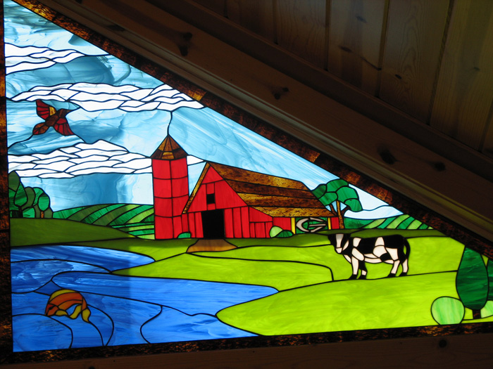 Custom Designed Gable Windows Made For A Client In Wisconsin