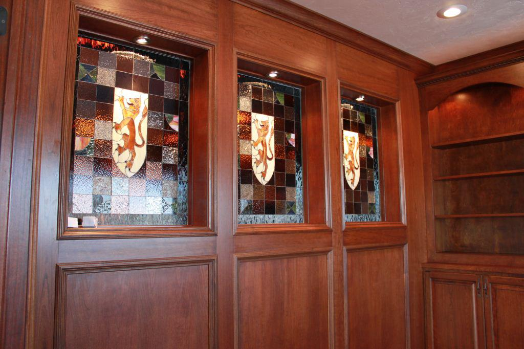 Coat Of Arms Stained Glass Cabinet Inserts