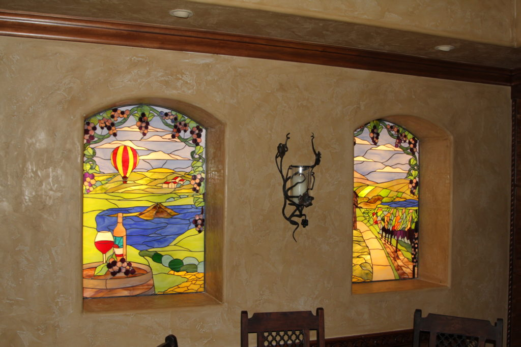 Napa Valley Vineyard Stained Glass Windows
