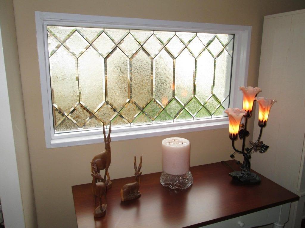 Classic Beveled Glue Chip Glass Privacy Window