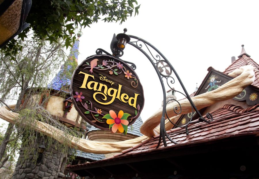 Stained Glass Window We Built For Disney Tangled House At Disneyland, California