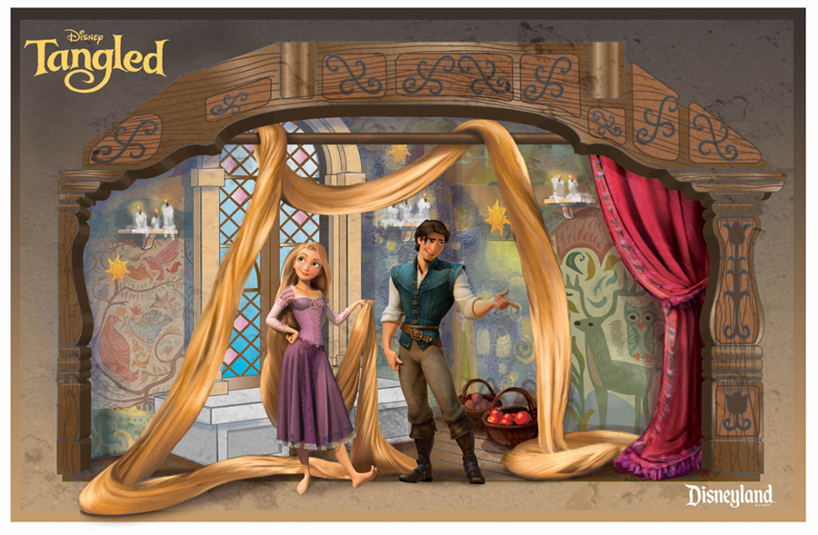 A Stained Glass Window We Built For Disney Tangled House At Disneyland, California