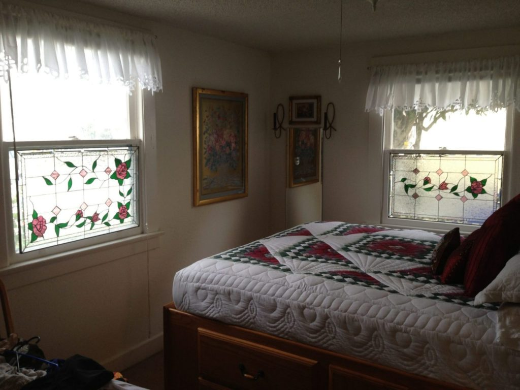 Stained Glass Rose Vine Panels