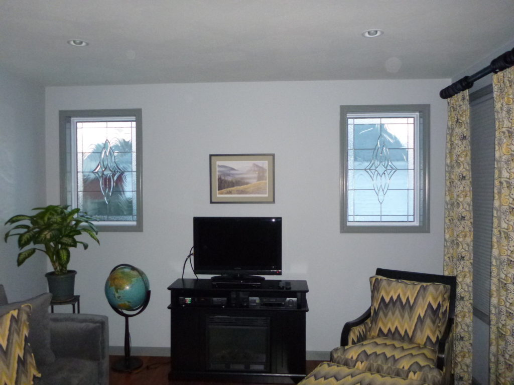Two Clear Beveled Windows Accent The Whole Room!