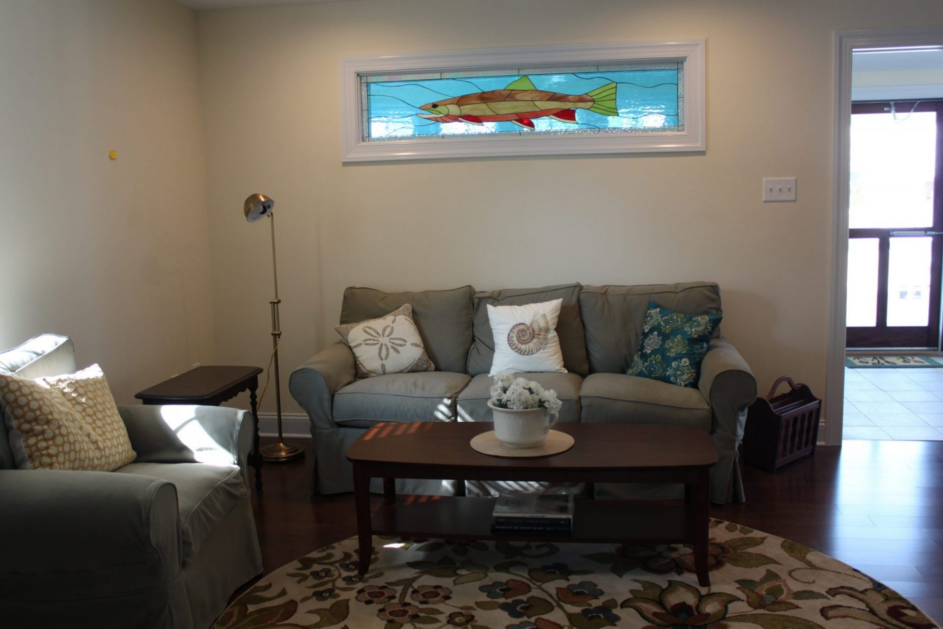 Salmon Stained Glass Window Partition
