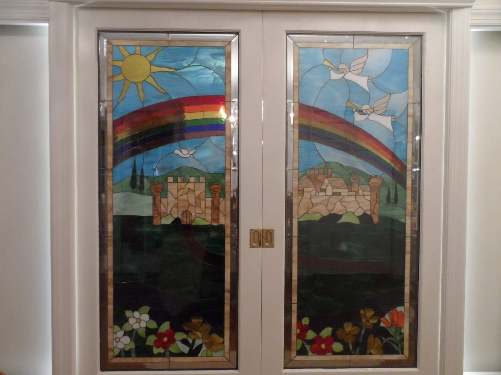 Triple Pane Insulated Tempered Stained Glass Door Inserts