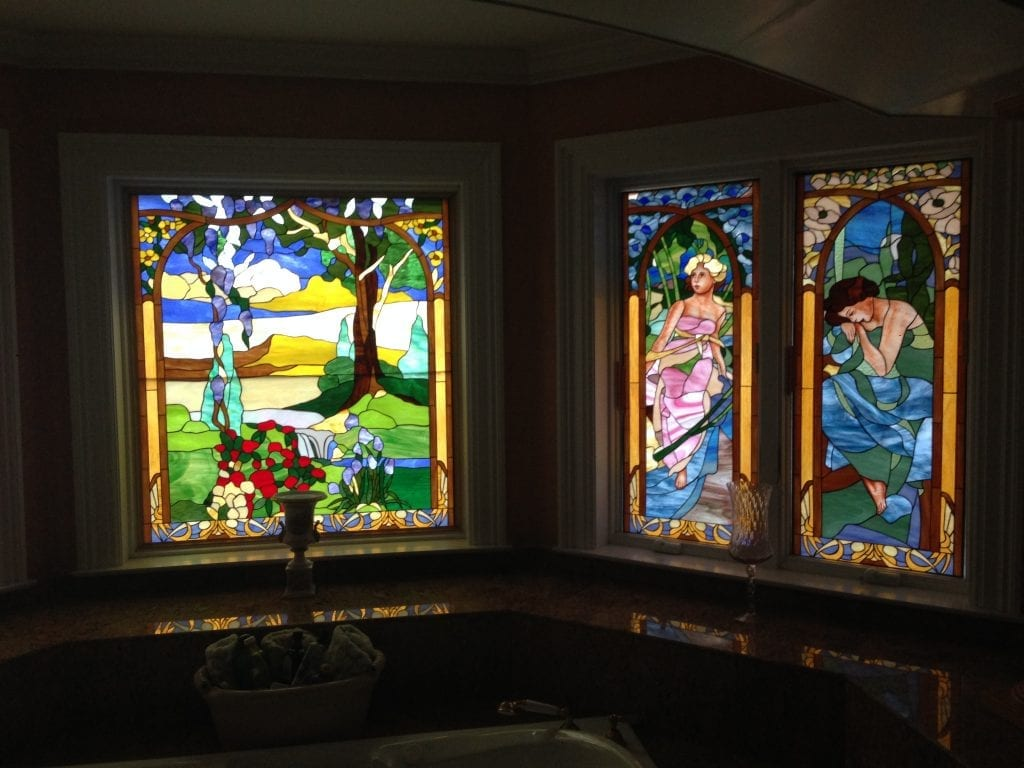 Hand Painting On Stained Glass!