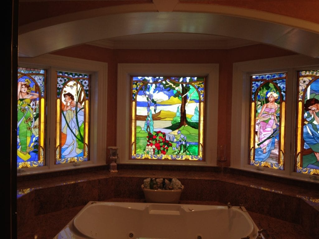 Simply Stunning! Hand Painting Features On Stained Glass!