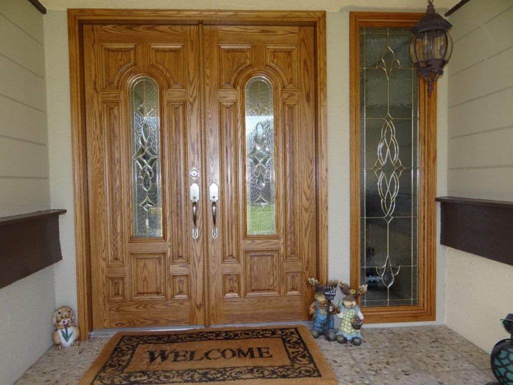 Brass Came Leaded Windows Made for A Customer's New Entryway (Detail)